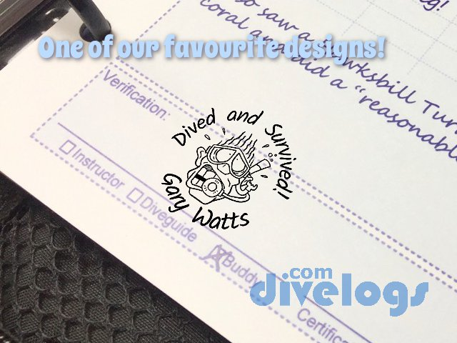 One of our favourite logbook stamp designs! You can share this, rate it, or copy it to make your own dive stamp.
