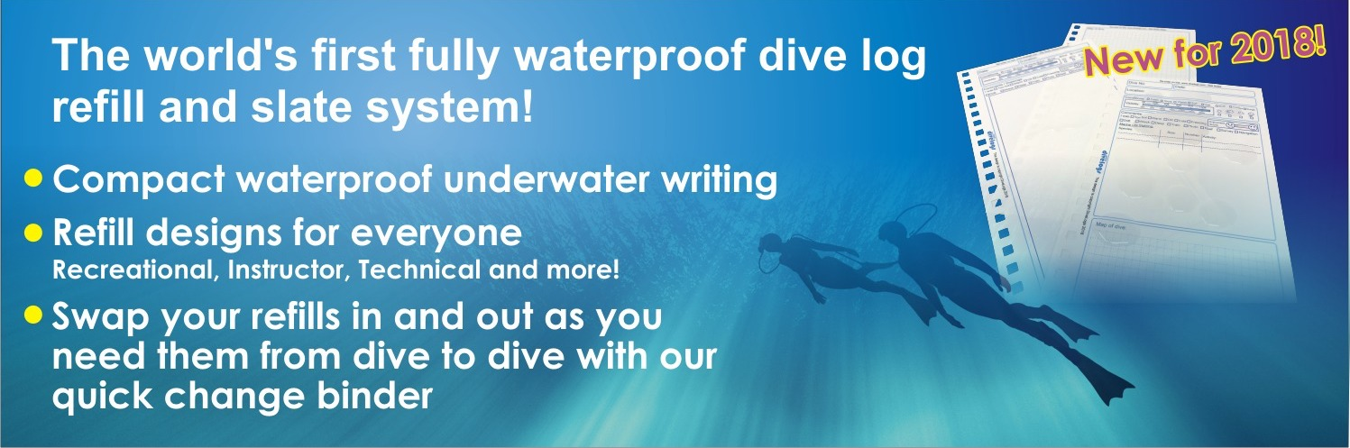 The worlds first modular wet note refill system for scuba divers.