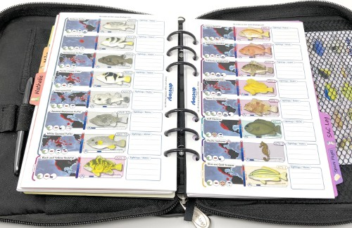In our compact binder version we have the same layout between information and sightings