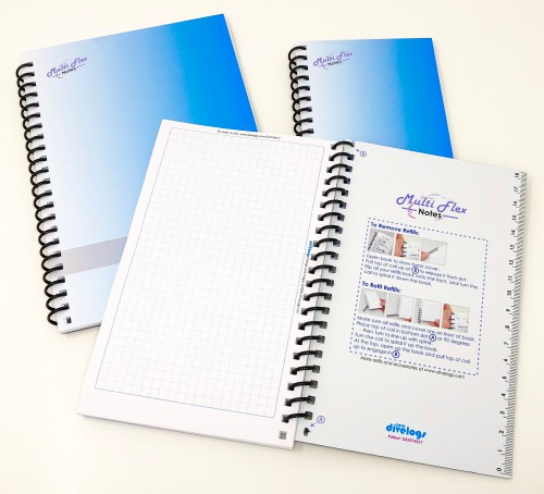 Available in three sizes, the back covers have special locking slots to keep your notes secure during normal use.