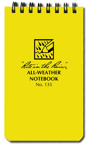 The all weather rite in the rain pocket notebook