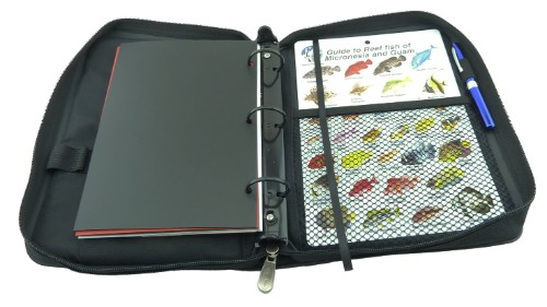 The back contains a full width mesh pocket, perfect for storing manuals and fish slates