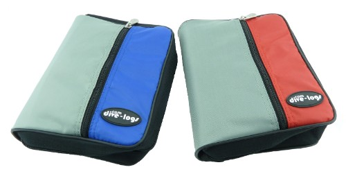 The 3-ring binder is available in Blue/Grey and Red/Grey models