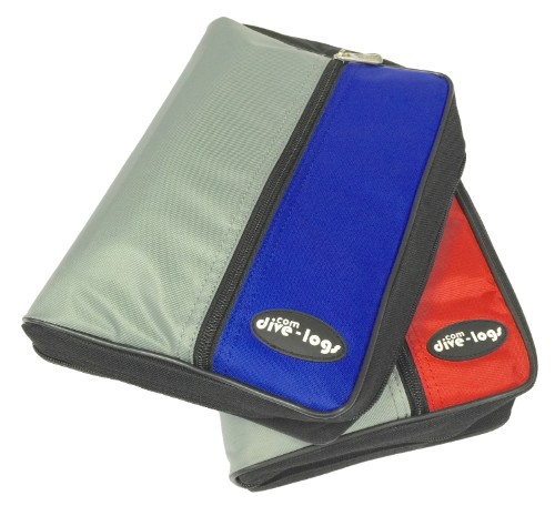 The 3-ring Dive Log Starter Pack is available in Blue and Red Binders